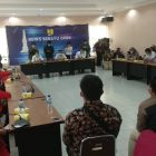 Suasana rapat di kantor BBWS-SO saat berlangsung penyampaian aspirasi warga desa Wadas menagih janji penolakan pertambangan di desa mereka