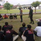 Tampak sebagian peserta mengikuti pelatihan di Mako Brimob Gondowulung Bantul Daerah Istimewa Yogyakarta, Jumat (09/04/2021)