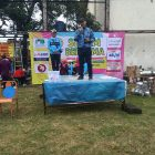 Tampak anggota DPRD Kota Yogyakarta Oleg Yohan menyampaikan sambutan dalam acara Gebyar Senam Perwosi Tegalrejo